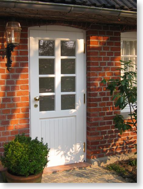 Haustür weiß sprossen  Tür
